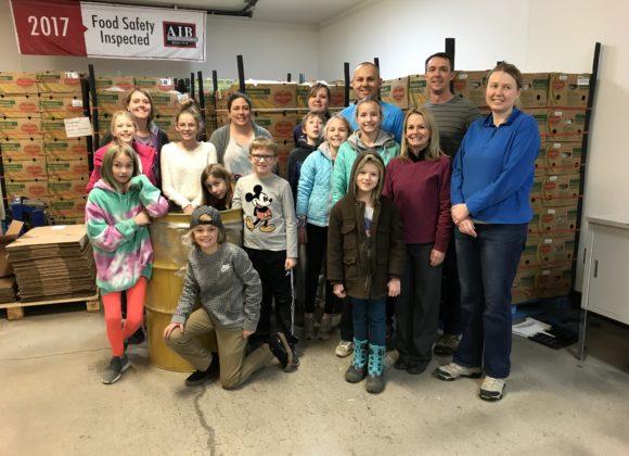 BSLC Sunday school kids volunteered at the Idaho Food Bank.